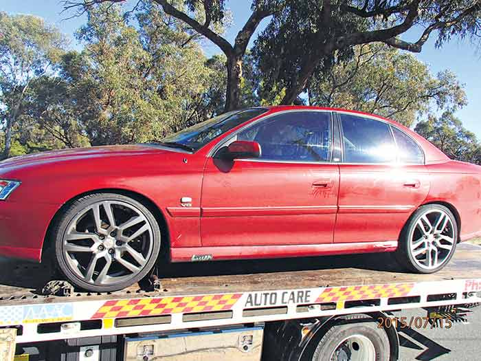 Car seized by Mundijong police.