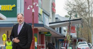 City of Armadale chief executive Ray Tame in front of CCTV which police now have direct access to. Photograph — Matt Devlin.