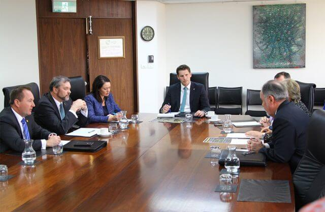 Liberal Canning candidate Andrew Hastie met with state ministers today to discuss drug issues in the electorate.