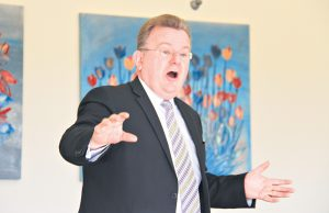 Federal Small Business Minister Bruce Billson at a Business Armadale breakfast on Thursday. Photograph - Robyn Molloy.