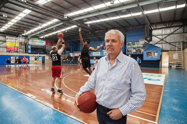 Willetton basketball association president Phil Nixon wants prospective councillors to support the push for funding to expand the stadium as teams were already having to play off-site because it was at capacity. Photograph — Matt Devlin.
