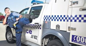 Senior Constable Joseph Gonzalez' career has gone down many paths from martial arts instructor to dancer to police officer. Photographs — Matt Devlin.