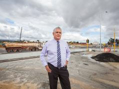 Newly appointed federal Assistant Health Minister Ken Wyatt at the Roe Highway upgrades in May. Photograph — Matt Devlin.