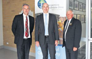 Member for Darling Range Tony Simpson and Transport Minister Dean Nalder met with Shire of Serpentine Jarrahdale president Keith Ellis in April to discuss the future of the Tonkin Highway.