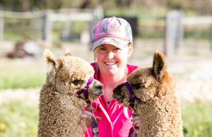 Banksia park alpaca stud manager Sophie Jackson has been raising alpacas with her family since she was two years old. Photograph — Matt Devlin.