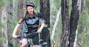 Helen Davey, 44, from Serpentine has started training and fundraising for this year's off road life cycle for canteen event. Photograph — Matt Devlin.