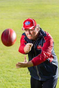 Armadale teacher Terry Pass said it was important engage children in sports. Photograph — Matt Devlin.