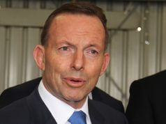 Prime Minister Tony Abbott in Kelmscott on Saturday. Photograph - Robyn Molloy.