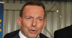Prime Minister Tony Abbott in Kelmscott on Saturday. Photograph - Robyn Molloy.