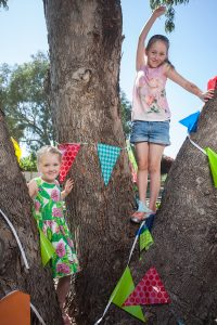 Kayla, 4, and Tegan Carter, 6, were preparing for this year's springfest.