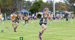 Zaali Elliott and Anthea Evans competed with the Byford Little Athletics at the weekend. Photograph – Matt Devlin.