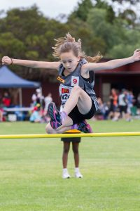 Zaali Elliott competed with the Byford little athletics at the weekend. Photograph — Matt Devlin.