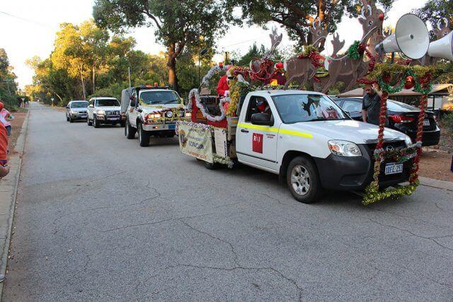 The Armadale Kelmscott Lions club santa sleigh run in Roleystone last year.