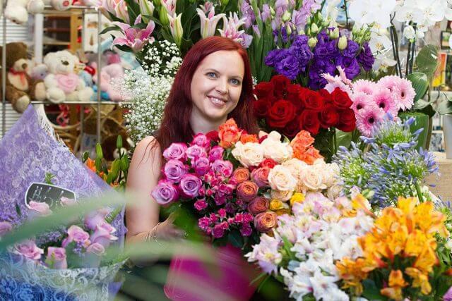 Willetton floral designer Christine Blackshaw won third place in the annual Tesselaar top gun competition last month for her design inspired by succulents. Photograph — Matt Devlin.