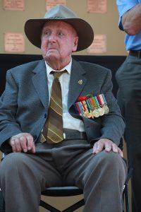 World War II veteran Alf Jenaway, who turned 100 in June. Photograph - Matt Devlin.
