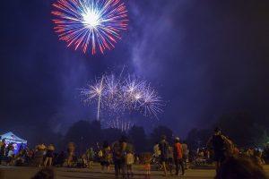 Spectacular fireworks. Photograph - Matt Devlin.