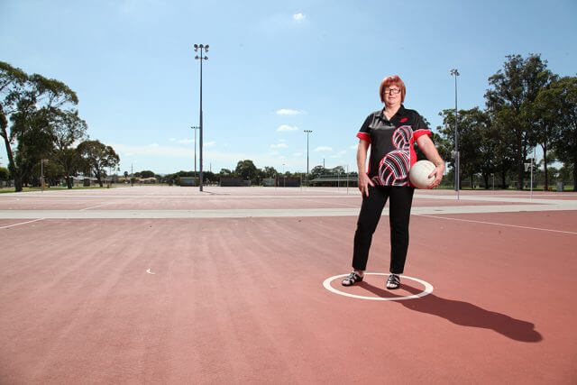 Parkwood resident Mary Cash has been volunteering for the southern district netball association for more than 50 years. Photograph — Matt Devlin.