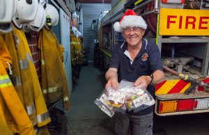 Byford volunteer bushfire brigade secretary Frank Rankin will help Santa on his sleigh runs. Photograph — Matt Devlin.