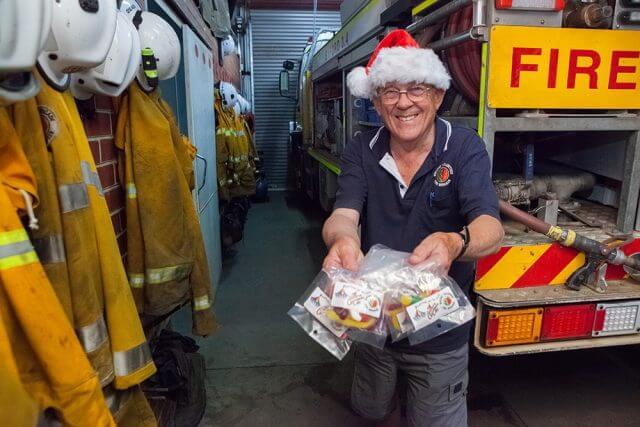 Byford volunteer bushfire brigade secretary Frank Rankin will help Santa on his sleigh runs. Photograph — Matt Devlin.