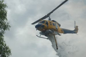 A helitac helps out in Forrestdale. Photograph - Hamish Hastie.