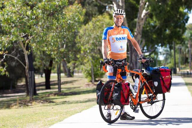 Bruce Bowman, 60, will ride from Melbourne to Perth next month for beyondblue. Photograph — Matt Devlin.