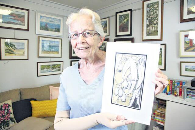Lynwood Artist Hilde Jones was a finalist in the Australian Artist magazine's Florals and Gardens Art Prize Challenge. Photograph — Matt Devlin.