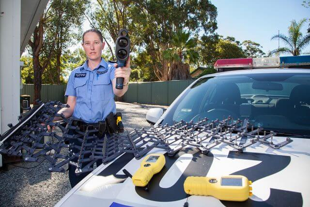 Mundijong Police Sergeant Kelly Hanson is among the officers targeting hoons and traffic offenders. Photograph — Matt Devlin.