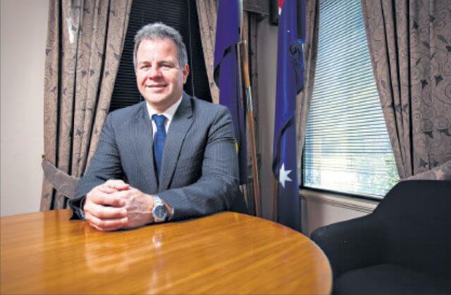 Dennis Jensen after winning back his seat in September 2013. Photograph - Matt Devlin.