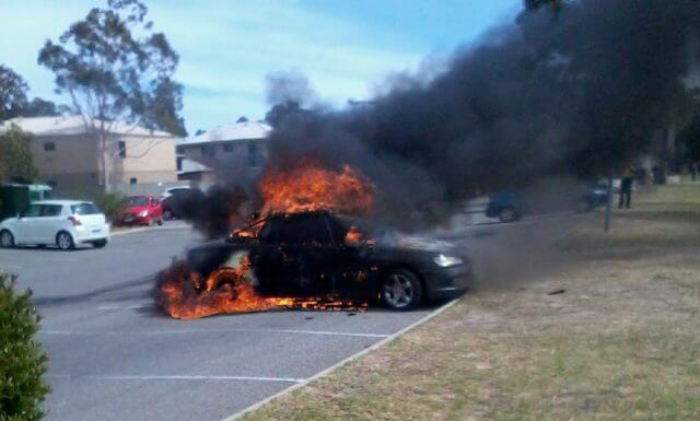 Fireball in Sizzler car park at lunch time today. Photograph Keith Bruning.