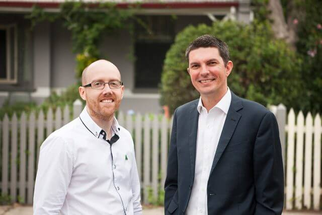 Greens candidate for Hasluck Patrick Hyslop and Senator Scott Ludlum.