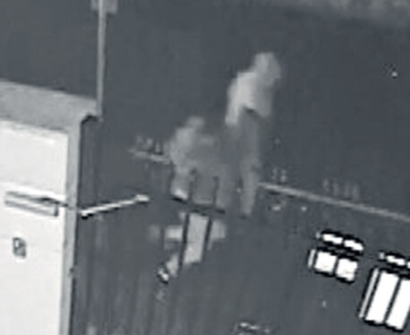 Three people were seen running down an alleyway next to Thornlie Islamic College following the attack.