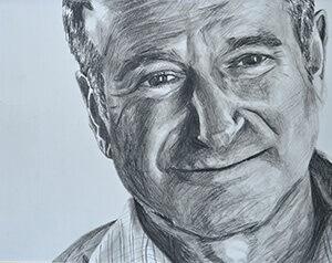 Jensen Valeros' sketch of actor Robin Williams.