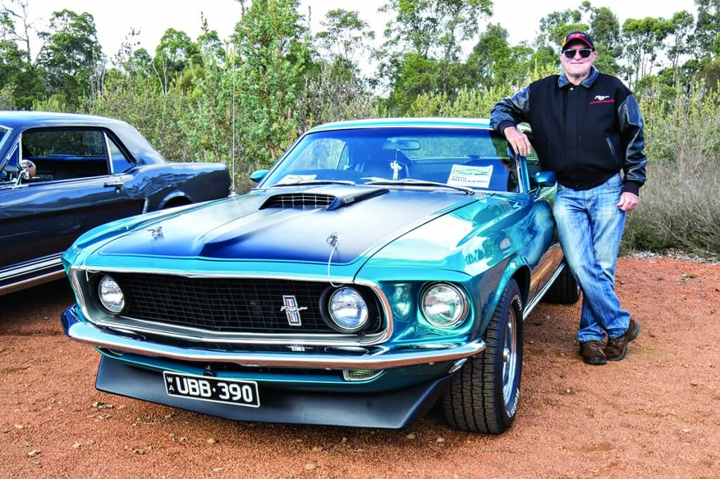 Ron Powell's rare Mustang was a highlight of the show. Photograph – Aaron Van Rongen.