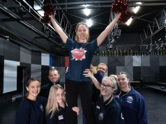 cheerleading and dance routine for 'R U OK' day